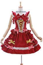 JL-620-3 rot gold red Stretch Classic Gothic Lolita Kleid Kostüm dress Cosplay