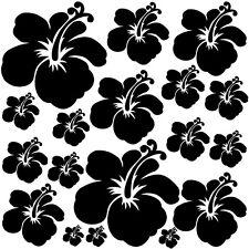 Sticker Planche Fleurs d'Hibiscus 20x20cm à 30x30cm, 18 coloris (FLEUR028)