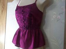 Authentic Arizona Jean Co. Stunning Purple Peplum Top. ($22.00 Value). New