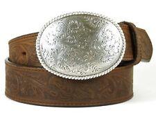 Nocona USA Western Gürtel Floral Oval Buckle Cowboy Cowgirl
