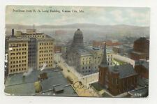 1909 Birdseye View Kansas City MO Trollies A5317
