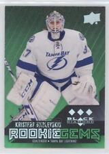 2014 Upper Deck Black Diamond Emerald 181 Kristers Gudlevskis Rookie Hockey Card