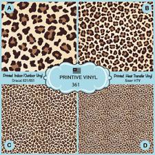 Summer Leopard  Pattern Printed HTV, Adhesive Vinyl-  361