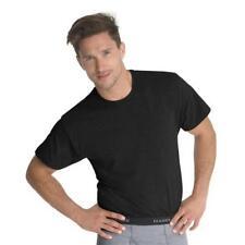 Hanes Men's Tagless ComfortSoft Crew Undershirt 3-Pack Black