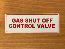 Gas Spegnere Valvola Di Controllo-Adesivo Vinile Impermeabile-Scelta di Taglie