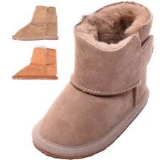 Genuine Super Soft Luxury Real Sheepskin Childrens Baby Boot Booties Ripper Tab