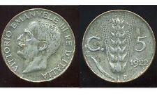 ITALIE  ITALY  5 centesimi 1922  ( blanche ?? )