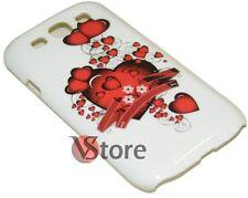 Cover Custodia Per Samsung Galaxy S3 I9300 S3 Neo i930i Cuori Cuore + Pellicola
