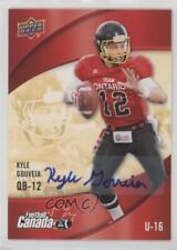 2013 Upper Deck USA Football Canada Rivals Autographs #C-15 Kyle Gouveia Auto