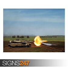 Disparo del tanque (AC086) Ejército Poster-FOTOS arte cartel impresión A0 A1 A2 A3 A4