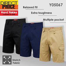 Hard Yakka Work Shorts Tradie Heavy Duty Stretch Drill Cargo Short Y05067 NEW