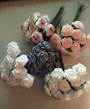 CR10 Silk Flowers - ROSETTES -Peach, County Blue, White, White w/ Mauve or Ivory