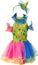 Polka Dot Clown Costume Princess Girl Halloween Party Fairy Fancy Dress 2-8Y