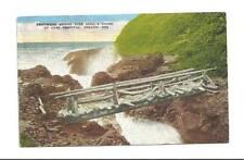 CAPE PERPETUA OR Devil's Churn Driftwood Bridge Vtg '49