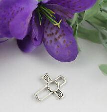 30pcs Tibetan silver cross bead frame T19089 FREE SHIPPING