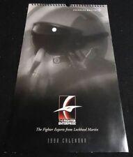 1998 LOCKHEED MARTIN Aviation Calendar F-16 F-22 JSF +