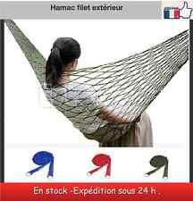 Hamac en filet extérieur 3 couleur hammock