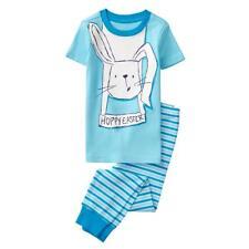 NWT Gymboree Boys Gymmies Pajamas set Blue Bunny Hoppy Easter many sizes