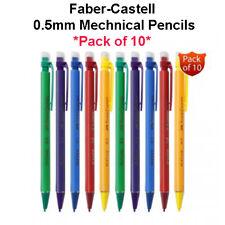 10 X Faber-castell portaminas 0.5 Lápices de plomo 0.5mm Lápiz HB Goma De Punta