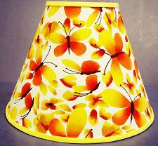 Yellow Orange Butterflies Lampshade Butterfly Handmade Lamp Shade