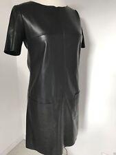 HUGO BOSS Orange Kleid Leder Optik 'Apelilly' GR. 34 GR. 36 Neu