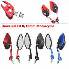2 pcs 8/10mm Universal Motorcycle Mirror Rear View Side Motorbike Scooter Bike