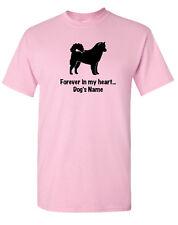 Alaskan Malamute Dog ~ Forever in my heart with Name T-shirt ~ Rainbow Bridge