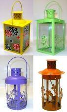 Linterna Luz Viento estampación FLORES 14 x 23,5cm AMARILLO, naranja, verde o