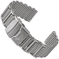 Milanaise SHARK MESH Uhrarmband MATT 4x H-Link m. Schraube 316L Edelstahl