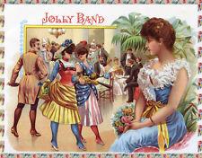 Quality POSTER.Cigar label Jolly Band.Home wall Decor bar club art print.q688