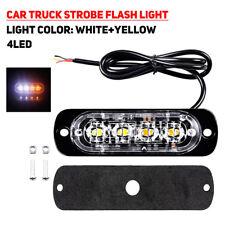 4LED 12W Car Truck Motorbike Dual Color Strobe Flash Emergency Light Bar Lamp