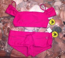 NWT Body Glove Pink Stellar Sidekick Boyshorts Bikini Swimsuit 2pc Set Women's
