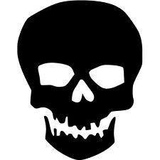 Skull Vinyl Sticker Decal Halloween Creepy - Choose Size & Color