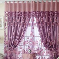 Floral Tulle Voile Tür Fenster Vorhang Drapieren Platte Schal Valances 100*250cm
