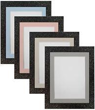 Cabaret Black Picture Photo Frames with Blue Pink Light Grey or Dark Grey Mounts