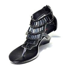 Sweet Beauty Black Slingback Heel Sexy Womens Sandals Shoes (Retail $88)