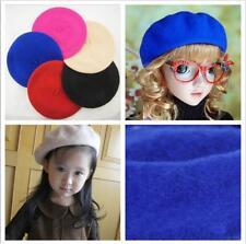 Classic Girl Kids Warm Wool Winter Beret French Artist Beanie Hat Ski Cap Hat BS