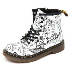 D3844 (without box) anfibio bimba DR. MARTENS nero/bianco boot shoe kid