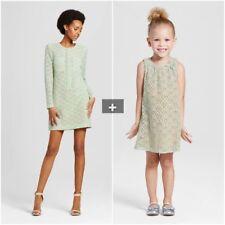SET Victoria Beckham MOTHER DAUGHTER mommy&me Mint Green DRESS floral XL,XS,2,5T