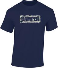 CAMPER T-Shirt REGALO DIVERTENTE campeggio UOMO DONNA CAMOUFLAGE motivo design