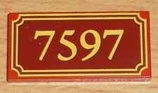 """Lego Toy Story sublimacion placa 2 x 4 con"""" 7597"""""""