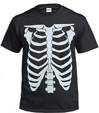 NEW Skeleton 100 % Cotton T shirt/Biker/Halaween/Goth/Rock/Metal/Gift/Music/Top