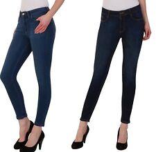 Womens Ladies Ex M&S Skinny Denim Mid Rise Jeans Ankle Grazer Super Stretch Slim