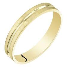 Womens 14K Yellow Gold 3mm Wedding Anniversary Ring Band Sizes 4 to 9