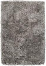 Dalyn Gray Contemporary Synthetics Monochrome Fluffy Shag Area Rug Solid IA100