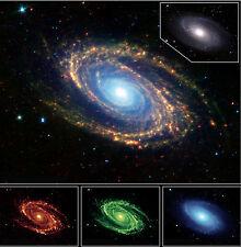 Spiral Galaxy Spitzer Ursa Major Hubble JPL NASA space telescope photo PIA04937