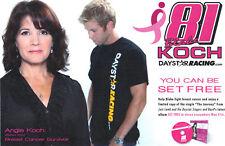 BLAKE KOCH 2011 DAYSTAR BREAST CANCER NASCAR POSTCARD
