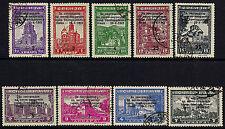 OPC 1943 German Occupied Serbia Semi Postal Set Sc#2NB29-37 Used VF  9171