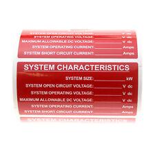 TYCO ELECTRONICS PPF-62749-1 SOLAR SYSTEM CHARACTERISTICS VINYL LABEL (100 PACK)