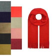 Women's Men Long Scarves 100% Cashmere  Winter Warm Stole Shawl Soft Neck Wrap